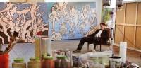Hugo Mayer in his studio.