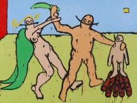 Bible scene, abraham, isaac, art history, hugo mayer, painting