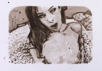 Ink painting, erotic art, porn , art history, hugo mayer, painting